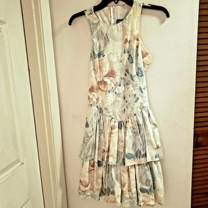 Vintage All That Jazz Floral Dress Size 5/6 Stain